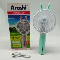 Kipas Angin Tangan Genggam Portable ARASHI Rabbit Fan 01