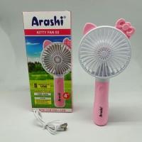Kipas Angin Tangan Genggam Portable ARASHI Kitty Fan 02