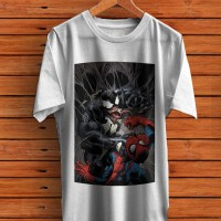 Venom VS Spider Man mens tshirt white