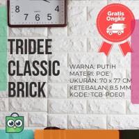 Wallpaper Foam 3D Bata Putih|White Brick Panel|TRIDEE CLASSIC BRICK