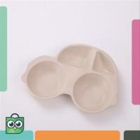 UCHII Bamboo Fiber Kid Baby Dining Plate Bowl | Piring Makan Anak