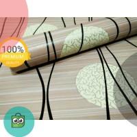 GROSIR MURAH -Wallpaper Sticker Dinding Coklat Salur Garis Hitam