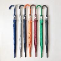 Payung tongkat polos / gagang warna / sablon promosi / GRC - 75008