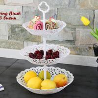 Piring Buah PLASTIK 3 Susun (Bisa utk tempat buah, kue, permen)