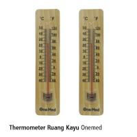 Thermometer Ruang Kayu Onemed - Alat Pengukur Suhu Ruangan