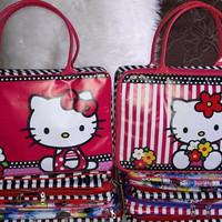 Travel Bag/ mini koper/ tas jinjing/ karakter Hello Kitty
