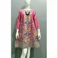 tunik batik primisima bunga pink