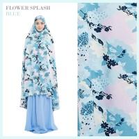 Mukena Tazkia Flower Splash Blue