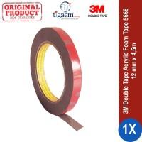 3M AFT Acrylic Foam Tape 5666, tebal: 1.1 mm, size:12 mm x 4.5 m (Double Tape Mobil)