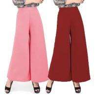 JCFashion Celana Kulot Panjang Kaki Lebar Wanita Thalia