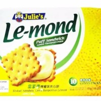 Biscuit Lemon Jules Le-mond Puff Sandwich Lemon Flavored Cream Biskuit