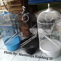 KANDANG BURUNG BESI BESAR BOOM FULLSET U/ LOVEBIRD/PARKIT & LAINNYA