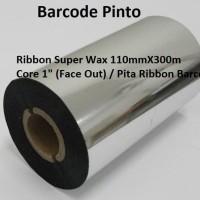 """Ribbon Wax Premium 110mmX300m Core 1"""" (Face Out) / Pita Ribbon Barcode"""