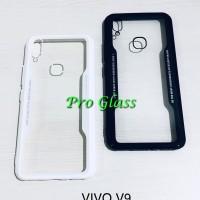 C108 VIVO V9 Ultrathin Glass SIlicone Premium Case