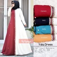 Baju Gamis Baby Tery import Yola Maxi Premium Cantik Elegan Original