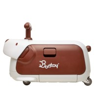 Bontoy Traveller Ride-On Luggage Beagle Brown - Koper Anak
