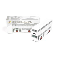 Tiny Diecast P9 Leyland Fleetline BACo Bus Hong Kong White