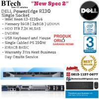 DELL Server R230 Rackmount 1U E3-1220v6/16GB/1TB NLSAS/3YR