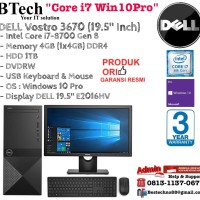 DELL Vostro 3670 Intel Core i7-8700/4GB/1TB/Win 10 Pro/3YR + E2016HV