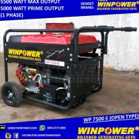 READY! GENSET - GENERATOR WINPOWER 5000 WATT - ELECTRIC STARTER - WP
