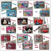 Tas renang anak/tas travel koper kanvas renang kotak karakter anak