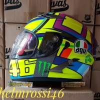 READY STOCK Helm full face Soleluna 2016 Agv Rossi Basic KYT Vendetta