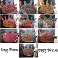 Topi Ulang Tahun Lingkar Mahkota / Topi Pesta Animal Happy Birthday