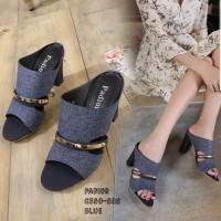 Sandal High Heels Hak Tahu DIANA DD01 7cm Big Heel Tahu Wanita