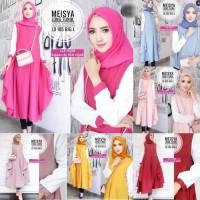 Baju Atasan Meisya long Tunik Baju Mulsim Blus Muslim Blouse