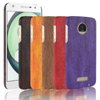 Soft Case Casing hp untuk Moto Z Play Custom murah Wood color case
