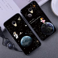 2in1 Soft Cute Star Case untuk Meizu M5 Strap Premium hp Flower Case
