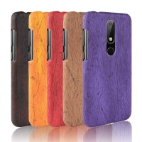 Case Casing hp untuk Nokia X6 Custom murah Wood color case