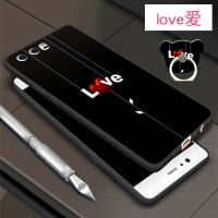 3in1 Custom Case Premium Soft untuk Huawei P10 Ring Stand hp/ iring