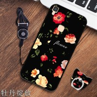 Pretty Girl Soft Case untuk Vivo V3 Max Premium hp Cute Case Strap