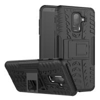 Case Holder hp untuk Samsung Galaxy J8 2018 Silikon   PC Tire Stand