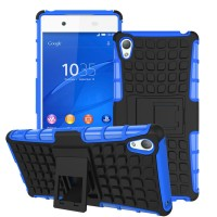 Case Holder hp untuk Sony Xperia Z4 Silikon   PC Tire Stand case