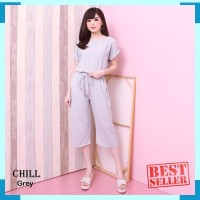 CHILL SET - FREE ONGKIR !! JUMPSUIT SETELAN POLOS PLAYSUIT SET