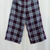 Harga setelan celana kulot zara kotak merah grosir termurah tanah   Pembandingharga.com