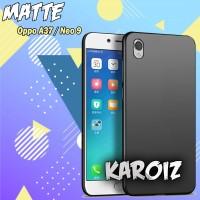 Case Slim black Matte Oppo A37 Baby Skin Softcase Jelly Silikon