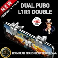 DUAL PUBG FAST Fire Sharp Shooter Metal Klik L1R1 Tombol L1 R1 Game Hp