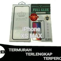 XS MAX iPhone FULL GLUE Original Tempered Glass Anti Gores Kaca iOS Hp