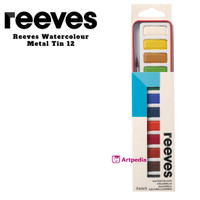 Reeves Paint and Colour Set 12 Watercolour Metal Tin 12