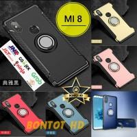Hardcase Xiaomi Mi8 Mi 8 Casing Back Case Ring Stand Armor Kickstand
