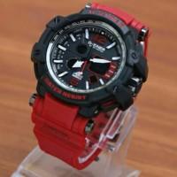 Jam Tangan Pria D Ziner Dz 8090 Original Black Red Biasa Pake Berena