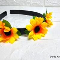 Bando Bunga Matahari Headpiece Aksesoris Rambut Wanita