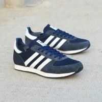 Sepatu Adidas zx racer navy white original - sepatu pria - running