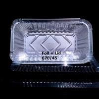 Kotak Aluminium Foil 670/45/18B + Tutup