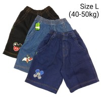 Celana Anak Jeans Pendek Karet L XL