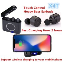 X4T Headphone TWS Headset Bluetooth Earphone with Wireless Charger
