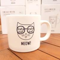 Gelas Mug Kucing Meow - Cat Print Coffee Mug 320ml Kualitas Bagus